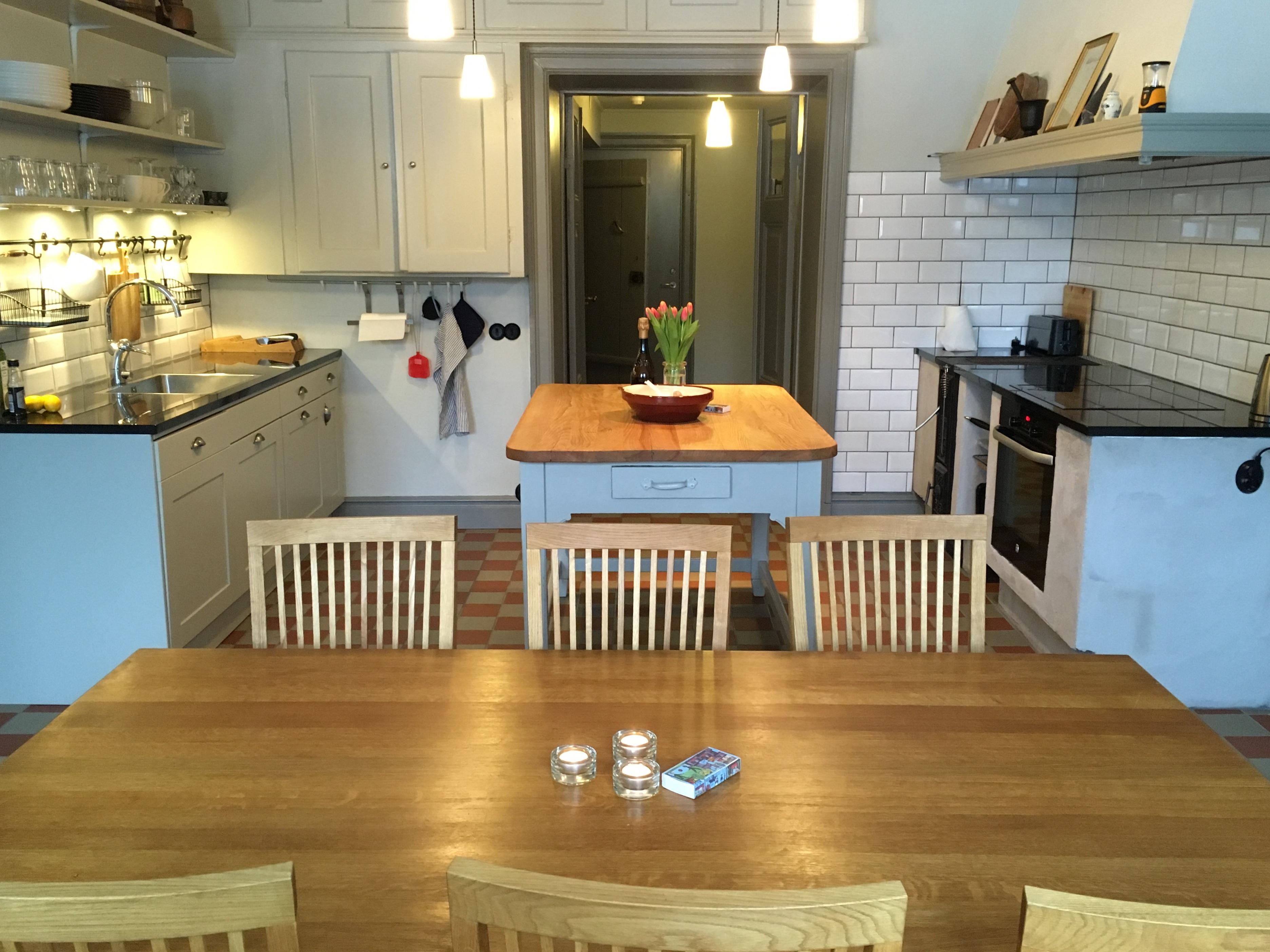 Köket i lägenheten på Grimstorp